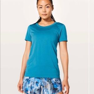 Lululemon Blue Swiftly Tech Relaxed Fit Tee